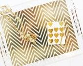 Gold Chevron Lucite Tray - Pencil Shavings Studio - limited edition