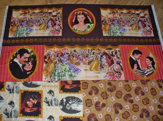 Gone With The Wind Fabric Rare Scarlett By