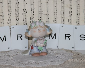 George Good Figurine ... BUMPKINS ... DRESS-UP... Bride / Wedding ... By Fabrizio... With Mr. / Mrs. cards