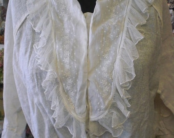 White Gauze Blouse Late 1800 to 1910