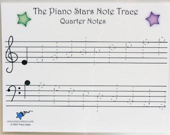 Piano Stars Note Trace