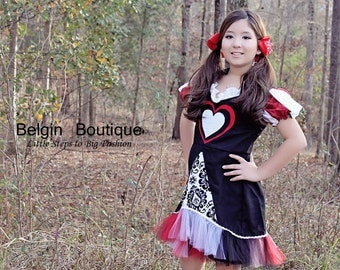 Pageant OOC Valentines Miss Queen of Hearts Love talent wear  casual wear natural wear custom 3/6m 12m 2 3 4 5 6 7 8 9 10