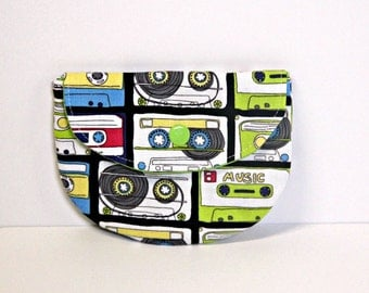 Mix Tape Pacifier Pouch, Pacifier Pouch, Pacifier Holder, Coin Purse, Small Wallet, Card Holder, Small Wallet, Binky Pouch, Pacifier Case