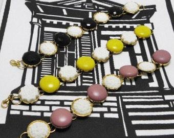 Vintage Button Charm Bracelets REDUCED