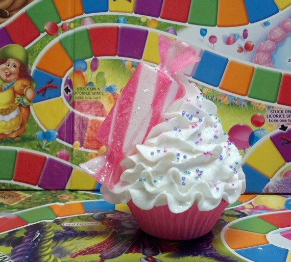 Christmas Candy Fake Cupcake Photo Prop, Holiday Decor, Party ...