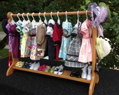 American Girl Doll:  30 inch clothes bar, doll clothes storage