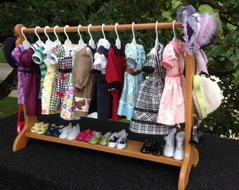 "American Girl Doll:  30"" stained clothes bar, doll clothes storage. Best seller item 7+ years."