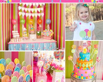 Deluxe CANDY SHOPPE Birthday Party decorations Printable deluxe Package DIY  sweet sixteen  teen party by Cupcake Express