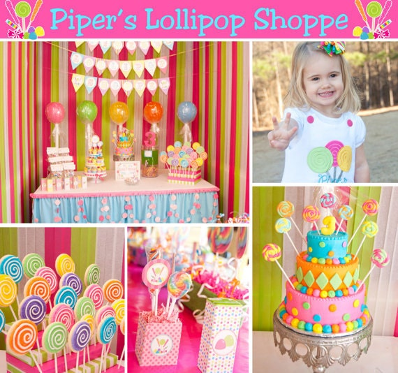 Deluxe CANDY SHOPPE Birthday Party Decorations Printable