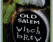 Happy Halloween  Witch Brew  Wood