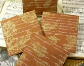 Thanksgiving Fabric Coasters Home Decor Set of 4 Holiday Coasters Fall Gold Leaves Thanksgiving Wording