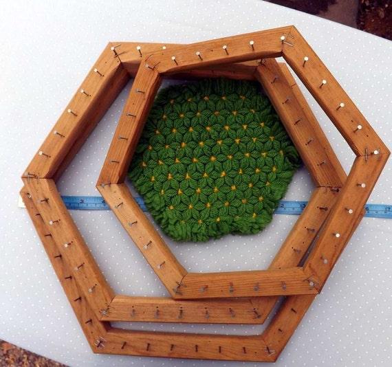 Weaving Loom Hexagon Wood Pot Holder 3 Looms