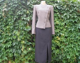 Long Pencil Skirt  / Skirt Vintage / Small Size / Size EUR38 / UK10 / Black / Black Long Skirt / Black Pencil Skirt