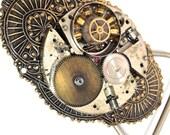 Steampunk Watch Parts Buckle, Vintage Brass