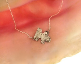 Autism Awareness Necklace/ Recycled fine silver Puzzle Piece