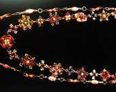 Gorgeous Necklace in a Beaded Tapestry of Autumn Colors