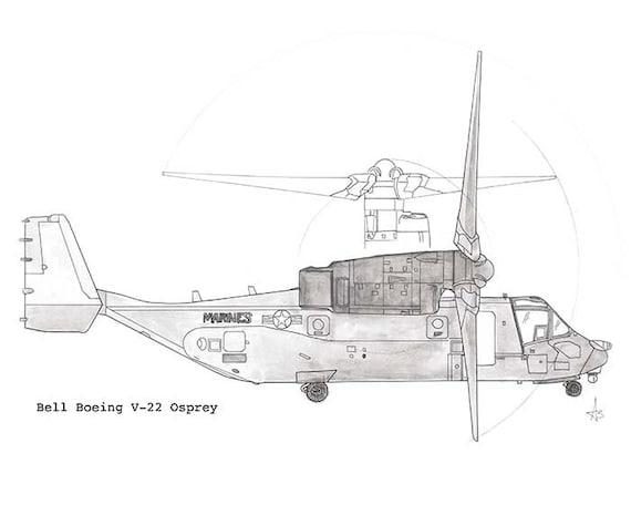 Osprey Elicottero : Bell boeing v osprey elicottero inchiostro penna di