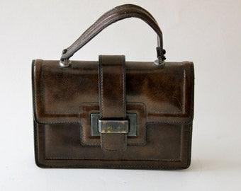 60s 70s Mod Structured Handbag