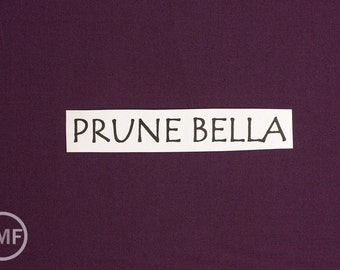 One Yard Prune Bella Cotton Solid Fabric from Moda, 9900 238