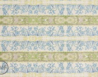 LAST PIECE Half Yard Sweet Life Field of Joy in Blue, Cori Dantini, Blend Fabrics, 100% Cotton Fabric, 112.102.04.1