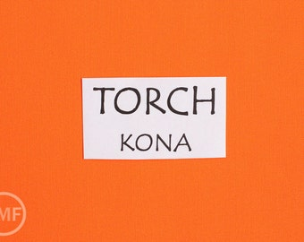 One Yard Torch Kona Cotton Solid Fabric from Robert Kaufman, K001-450