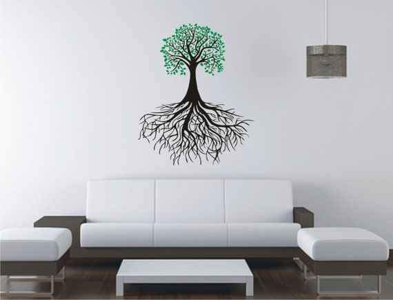 items similar to tree of life vinyl decal wall sticker. Black Bedroom Furniture Sets. Home Design Ideas