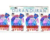 4 Duran Duran Sticker & Trading Card Packs by Topps 1985