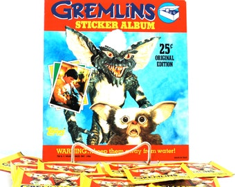 Gremlins Sticker Album & 10 Packs of Stickers