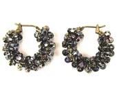 Swarovski Earrings in Heliotrope Swarovski Crystal Hoop Earrings