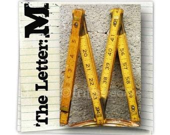 Alphabet Photography Letter M  COLOR 4x6 Photo Letter