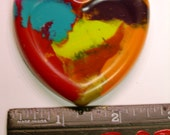 Melted Heart Crayons Recycled -- Set of 20
