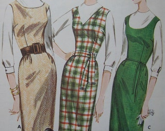 Fabulous Vintage 60's Misses' Pattern PROPORTIONED JUMPER And DRESS Factory Folded