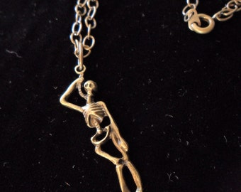 Hanging Skeleton Necklace