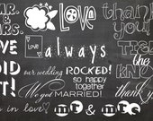 INSTANT DOWNLOAD - Pack of 12 Photoshop Brushes for Weddings