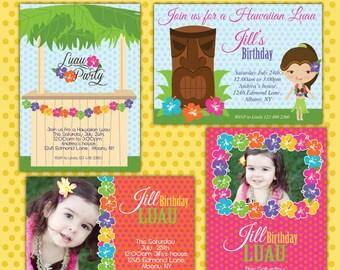 LUAU PARTY Invite/ Party digital printable invitation