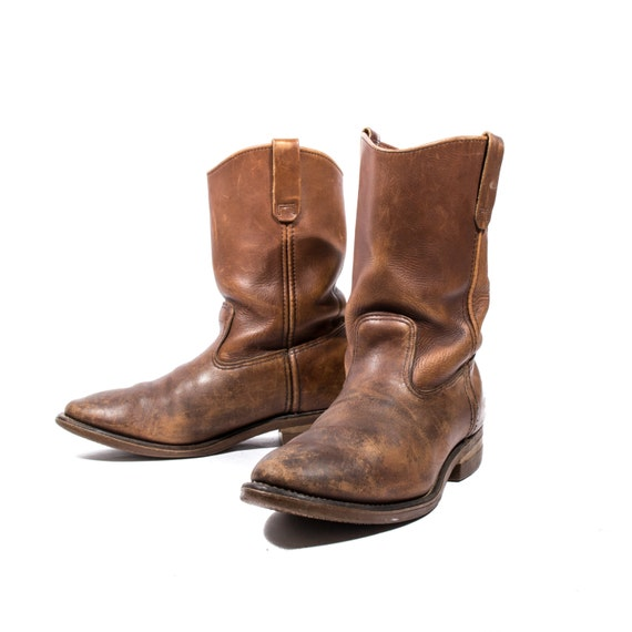 s vintage wing pecos boots in rugged by