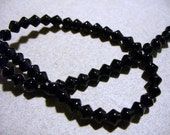 Glass Crystal Beads  Faceted Bicone Black 4MM