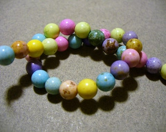 Magnesite Beads Gemstone Mixed Colors 7MM