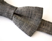 Bowtie Boys Ages 2-10 in Gray Linen