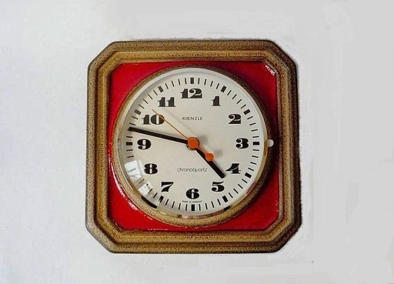 Vintage German Ceramic Wall Clock from Kienzle