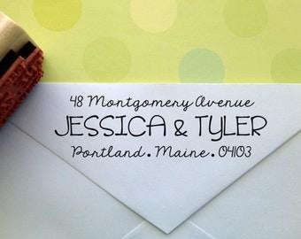 Typography Return Address Stamp