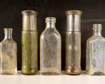Antique / Vintage Medicine Bottles, Doctors Elixir Bottles, Apothocary Bottles (c.1920s) - Instant Collection, Mad Science Party