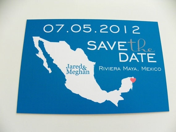 MEXICO Save the Date Postcards Set of 48 Destination Wedding – Postcard Wedding Save the Dates