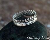 Sterling SILVER CROWN RING - Princess crown ring - Queen Crown Ring - Argentium Silver Crown Ring -Crown Ring - crown - Sterling Silver Ring