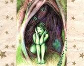 Art Postcard: Dryad Dreams