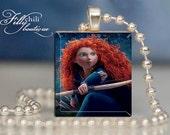 Merida (1) from Brave -Pendant from Scrabble® tiles. Scrabble® tile letter. Scrabble® necklace. Scrabble® tile pendant. Gift Present