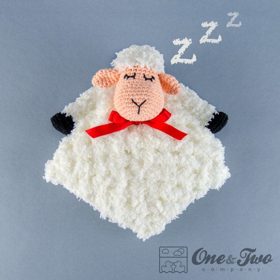 Crochet Pattern For Baby Security Blanket : Sweet Sheep Lovey / Security Blanket - PDF Crochet Pattern ...