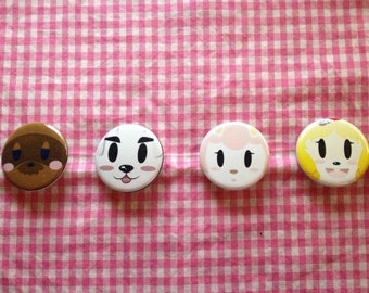 Animal Crossing: New Leaf Button Set