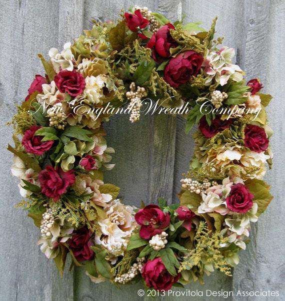 Floral Wreath Victorian Wreath Designer Wreath Garden