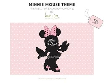 MInnie Mouse Theme Backdrop Option 2 (Printable file)